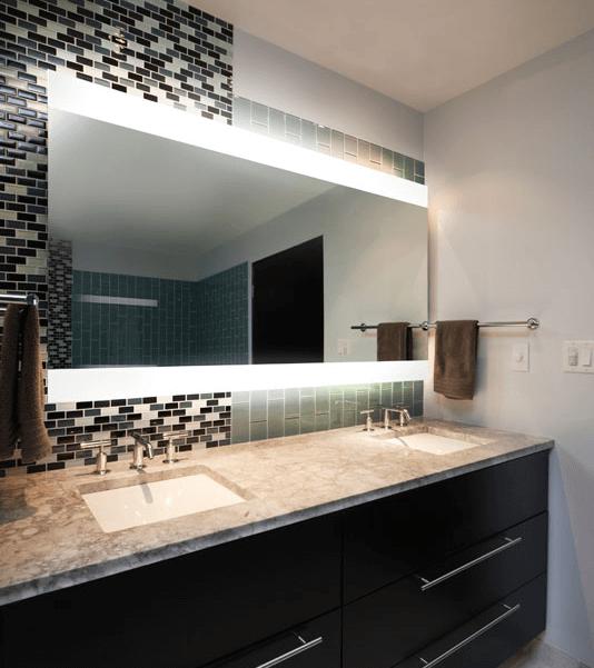 Frameless Vanity Mirror Bevelled Mirrors