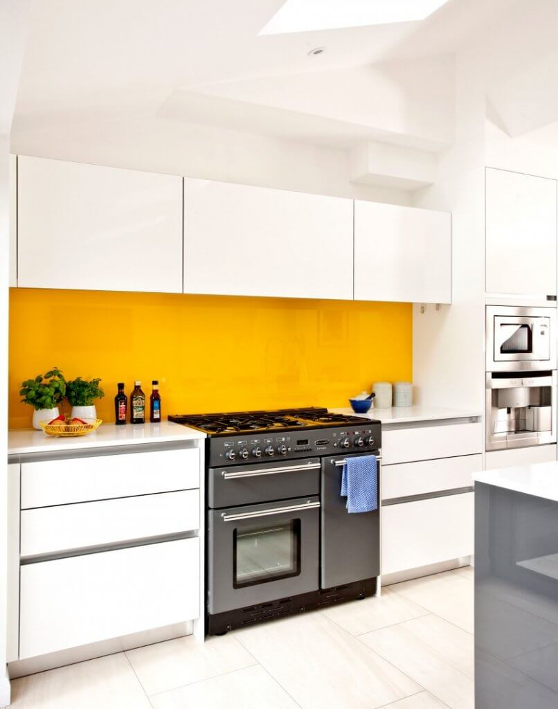 The Best Glass Splashback Colours For A White Kitchen