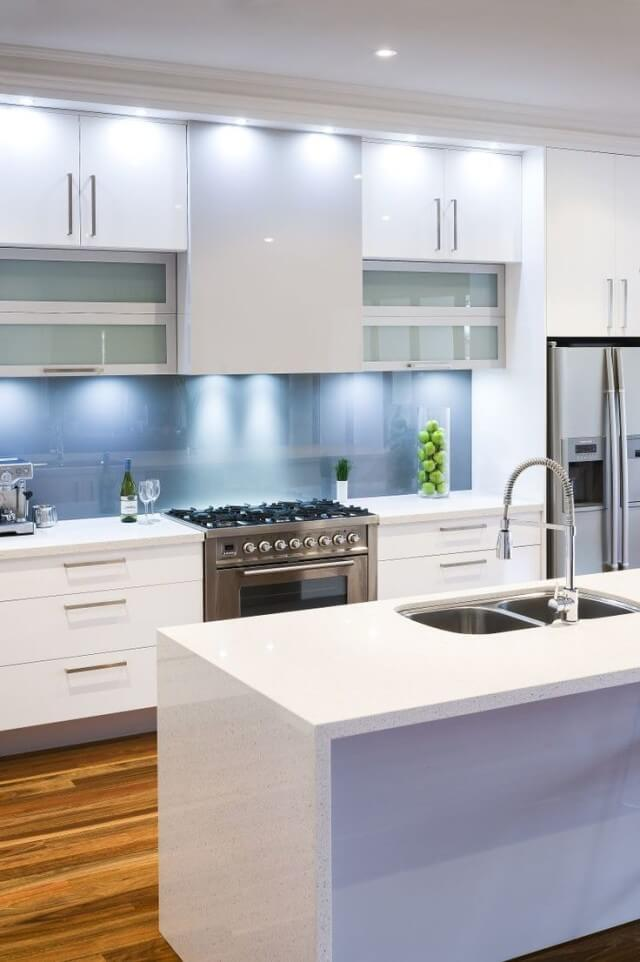 The Best Glass Splashback Colours For A White Kitchen Economy Glass