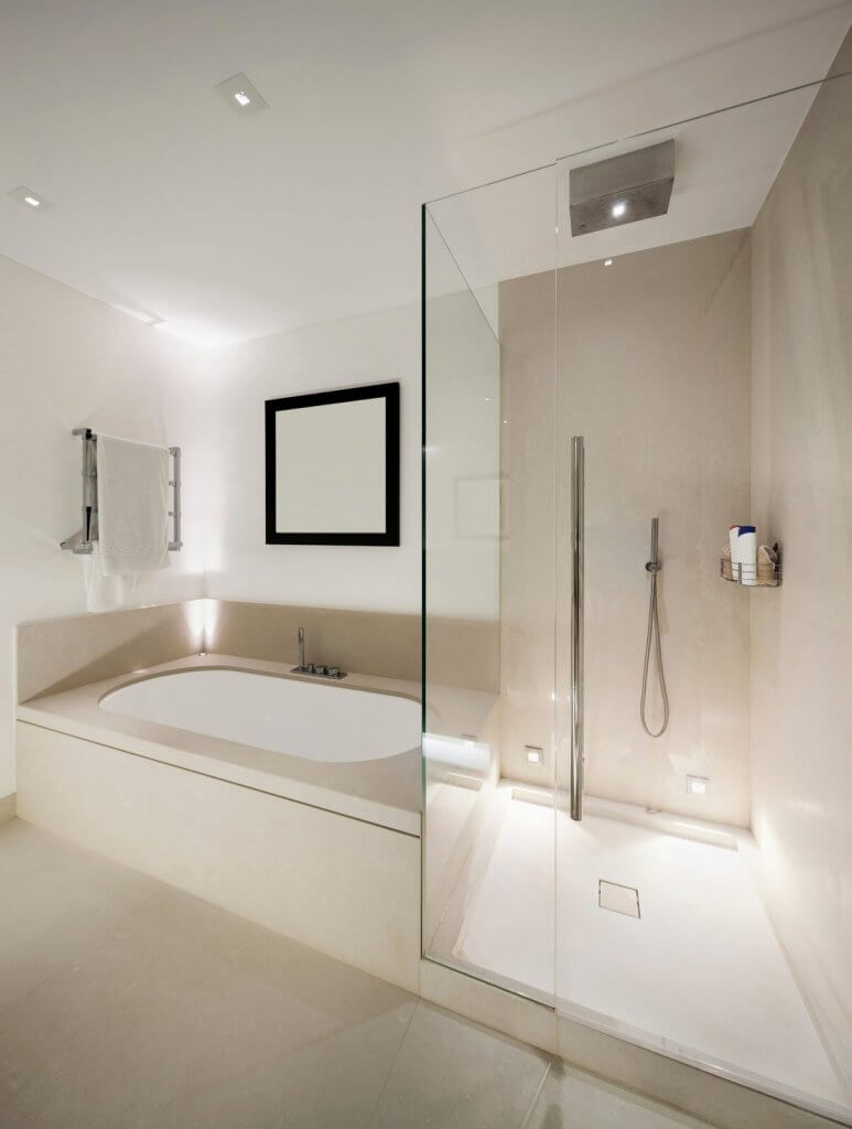 Frameless-shower-screen